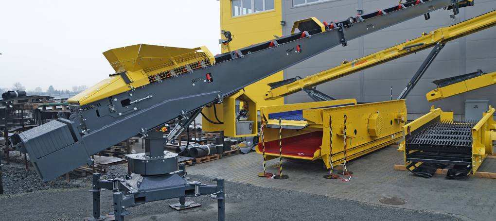 Keestrack Static S1 automated swiveling stacker