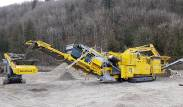 Keestrack R6 impact crusher demo day