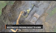 Machine crushing basalt to 65mm - Keestrack | Equip2 - New Zealand