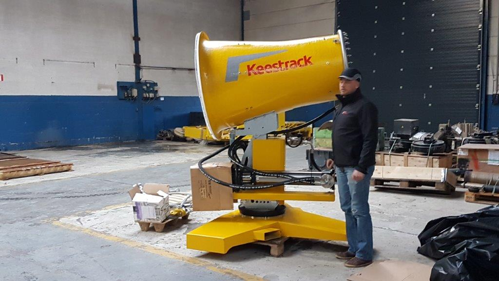 Keestrack W7 dust suppression cannon