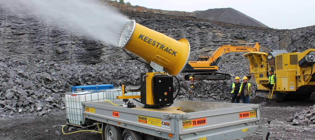 Keestrack W4 dust suppression cannon