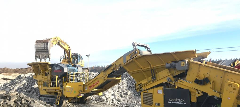 Keestrack B7e jaw crusher with K6 screen