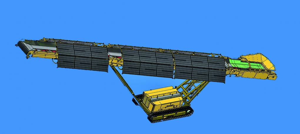 keestrack S5 solar driven and battery powered tracked stacker