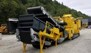 Keestrack R6 Impact crusher in transport position